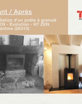 Modernisation d'une cheminée !